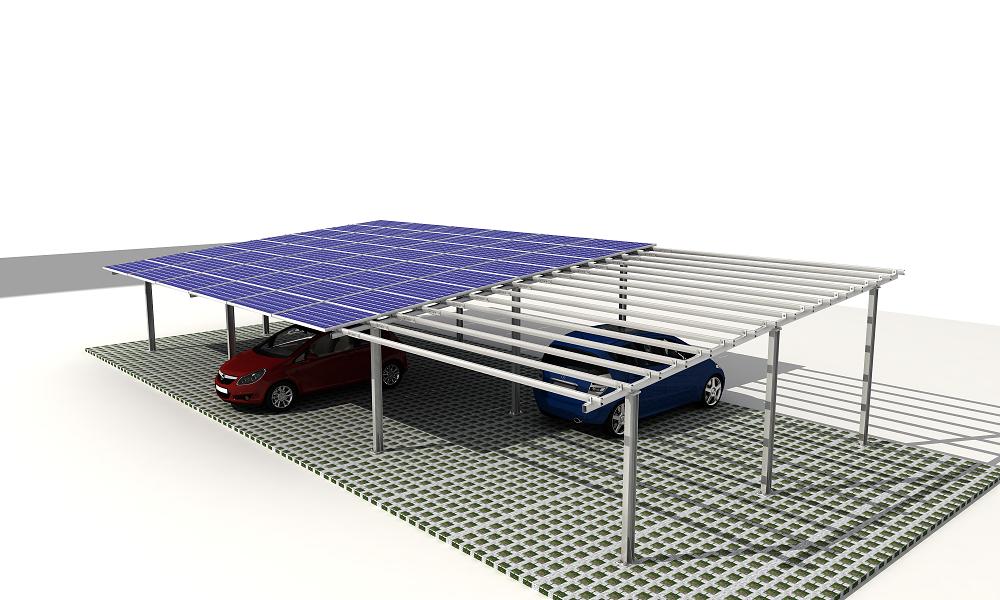Galvanized Steel Solar Carport